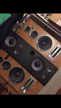 Brown and black subwoofer speaker Guelph, N1E 6W8