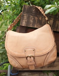 COACH Leather Shoulder Bag Maple Ridge