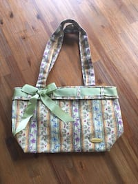 Longaberger Green and white floral tote bag Lutz, 33558