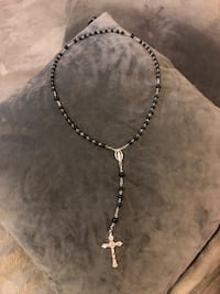 Black and Silver Rosary beads. Paid $45 (22in long) in excellent condition! With box Washington, 20002