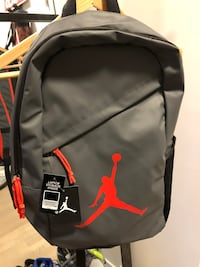 New Jordan Brand Backpack with Laptop/Tablet Storage in Grey and Crimson Red Toronto, M6J