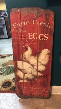 red and brown wooden Farm Fresh Eggs signage Martinsburg, 25405