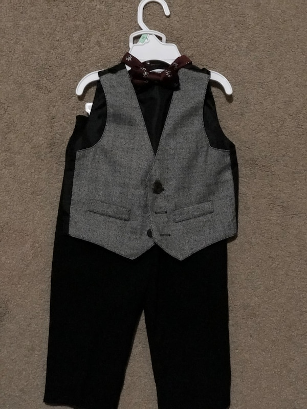 Gray and black suit jacket