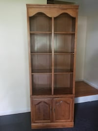 brown wooden display cabinet Randolph, 07869