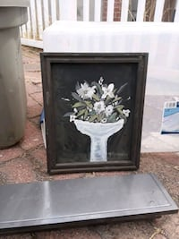 white and black flower painting Antioch, 94509