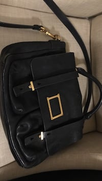 black and brown leather crossbody bag Richmond, V7C 1W5