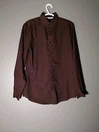 H&M Button Up Shirt - Maroon