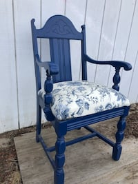 Blue wooden blue floral padded armchair 2336 mi