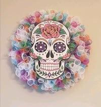 Day of the Dead Colorful Wreath Charlotte