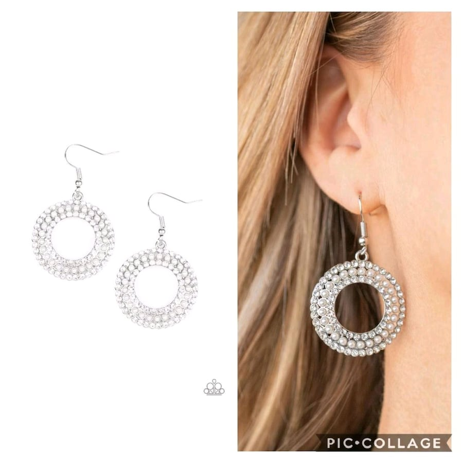 Sparkle splurge white earrings  489fecbb-59db-4571-a6d6-6107c814089e