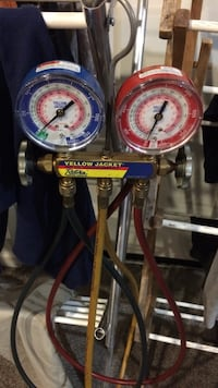 Blue and red yellow jacket HVAC gauges. For R 22 residential use Tappahannock, 22560