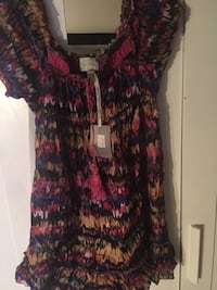 100% SILK Costa Blanca Dress. New Tags On. Medium