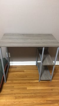 brown wooden computer desk with gray metal base Corpus Christi, 78411