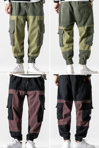 HYPO ZONEY JONES VELCRO TAPE HAREM JOGGER PANTS