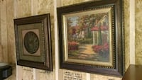 two brown wooden framed painting of house McLeansville, 27301