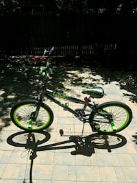 black and green  bike