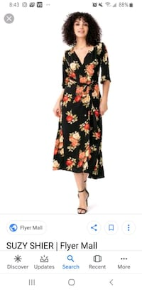 women's black and red floral sleeveless dress Pickering, L1W 4B2