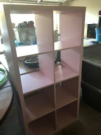 Pink wooden 5-layer shelf  Thousand Oaks, 91360