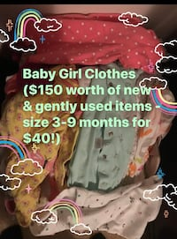 Baby girl clothes 3-9 month bundle ! Greer, 29651