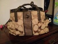 brown and black Coach monogram tote bag Hagerstown, 21740