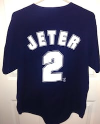 New York Yankees Jeter No 2 Button Closure Jersey Size Large By True Fan London