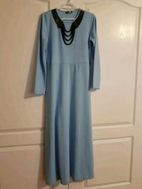 women's blue long-sleeved dress 560 km