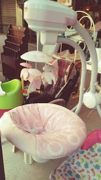 baby's white and pink bouncer Palmview