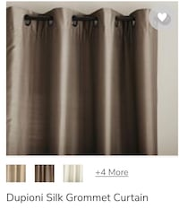 "Pottery Barn Dupioni Silk Grommet Curtains 83""x50"" Tampa, 33629"