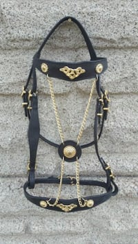 black leather baroque bridle  Toronto, M6G