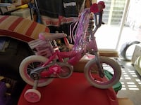 toddler's pink and white bicycle with training wheels Irvine, 92618