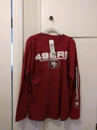 red and white long-sleeved shirt San Jose, 95125