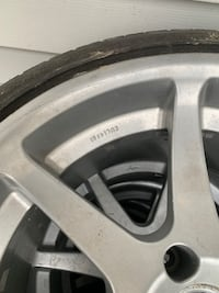 Gray 5-spoke car wheel with tire Silver Spring, 20902