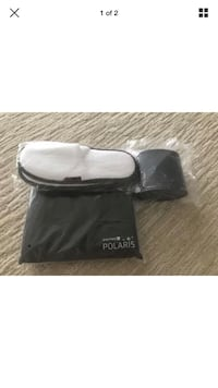 New United Polaris Business Class amenities kit, slippers & PJ Wilmette, 60091