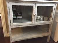 Gray wooden framed glass cabinet Los Angeles, 90036