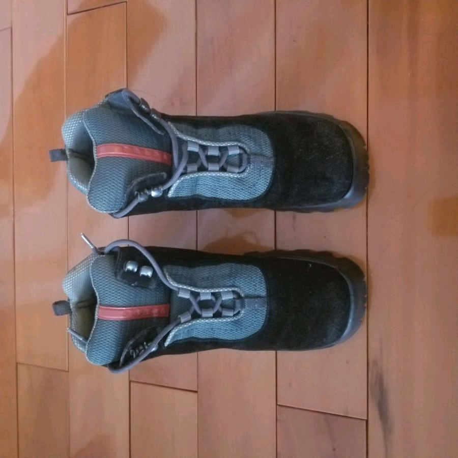 Authentic Prada lace up boots