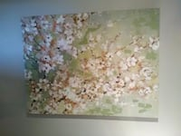 white and green floral painting Denver, 80202