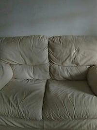 Two seater Italian leather sofa  Tysons