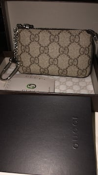 Brown and black gucci coin bag Vaughan, L4H 1P9