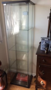 Rectangular glass curio cabinet Toronto, M9M