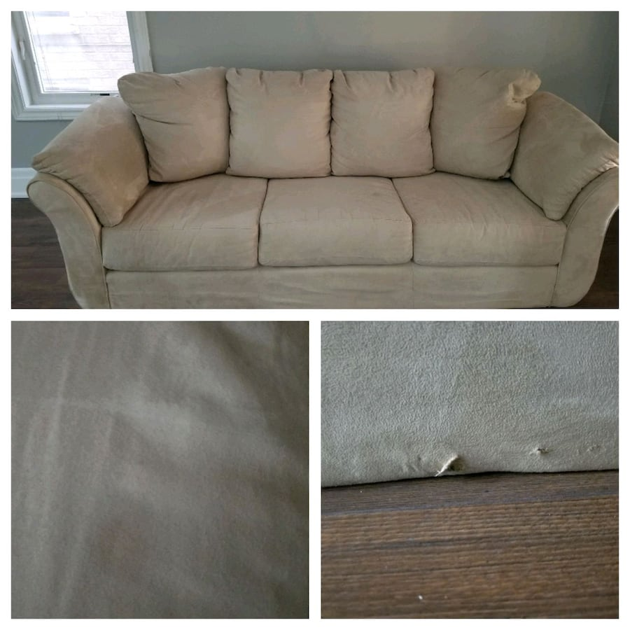 Microsuede couch for sale