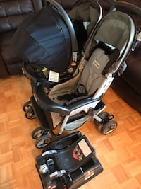 Peg Perego double stroller and car seat