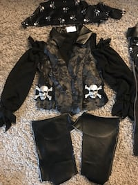 Pirate costume girls size 10-12  Los Angeles, 90028