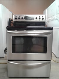 gray and black induction range oven null