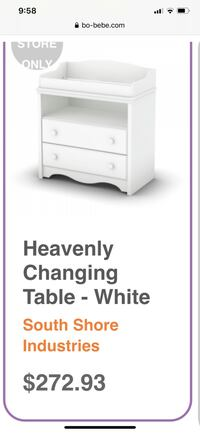 Changing table with changing pad + covers
