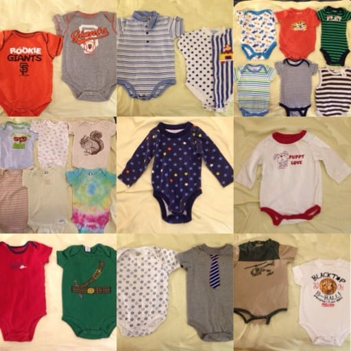 100+ PC'S BABY CLOTHES SIZE FROM 0-9 MONTHS