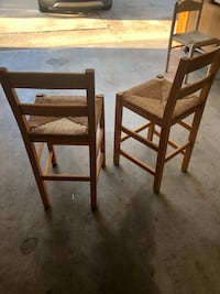 Solid wood bar stools with woven seats Oklahoma City, 73162