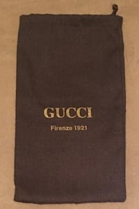 Authentic Gucci Firenze 1921 Chocolate Brown Drawstring Dust Cover Bag Las Vegas