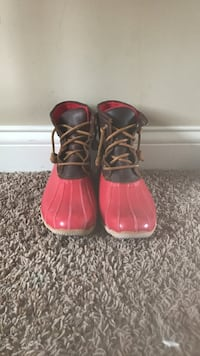 Red Sherry duck boots Le Claire, 52753