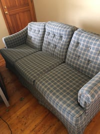 gray and white plaid 3-seat sofa Commerce, 30530
