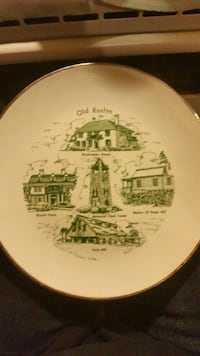 Vintage Old roslyn collectible plate  Centerville, 16404